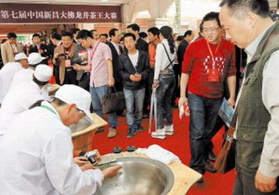 新昌借大佛龙井茶文化节做强做大大佛龙井品牌