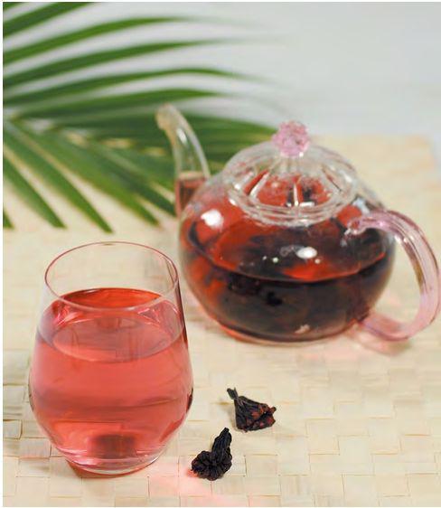 洛神花茶清热解毒、帮助消化功效
