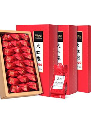 新茶大红袍乌龙茶叶礼盒装武夷山岩茶肉桂茶浓香型袋装散装岩茶